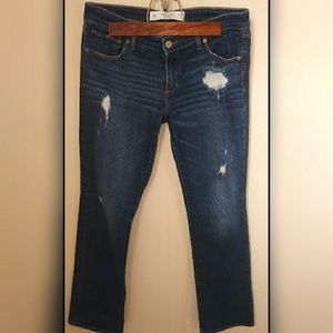 Abercrombie and Fitch distressed straight jeans
